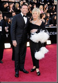 Actor Hugh Jackman and wife Deborra-Lee Furness arrive at the 83rd Annual Academy Awards held at the Kodak Theatre on February 27, 2011 in Hollywood, California.