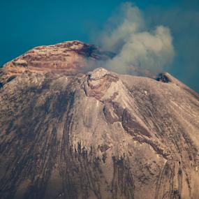 crater by Cristobal Garciaferro Rubio - Nature Up Close Rock & Stone ( crate, smoking volcano, popocatepet, steam )