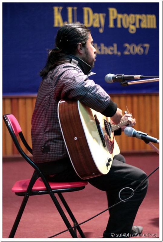 Samuel Chhetry Playing Guitar