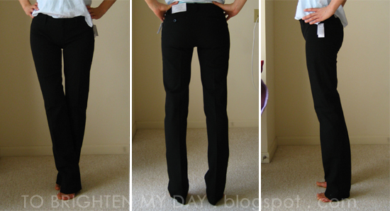 f96812ac So my quest for skinny black pants continues. I saw these H&M black trousers,  US size 2 and thought they fit way better than the Gap ones.