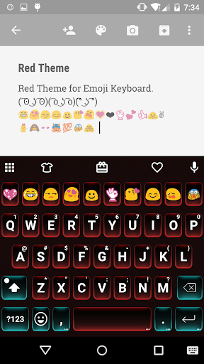 Red Love Emoji Keyboard