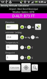 Density Altitude Calculator- screenshot thumbnail