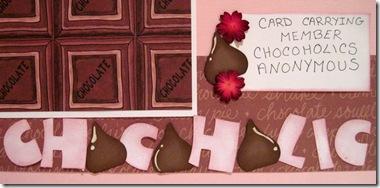chocoholic title close up