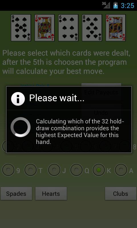 Video Poker Assistant- screenshot
