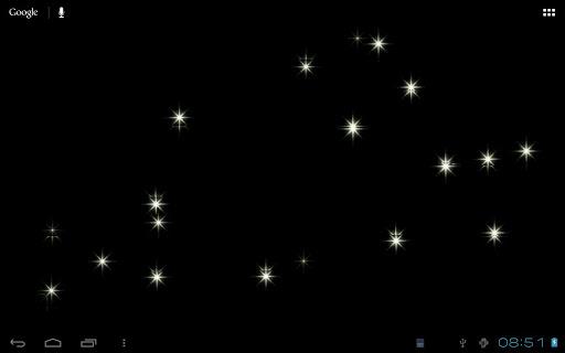 Sparkling Stars Live Wallpaper