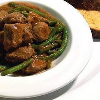 Braised Lamb, Green Beans and Tomatoes.