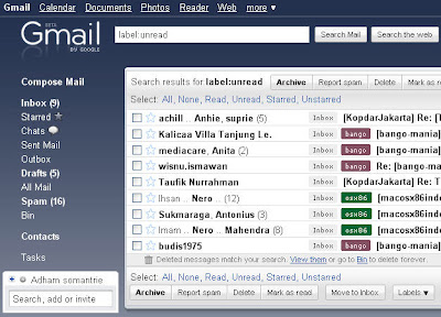 Unread Mails on Gmail