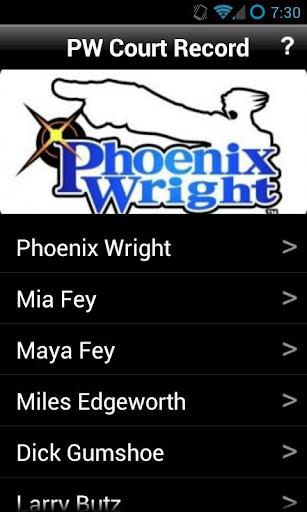 Phoenix Wright Court Record