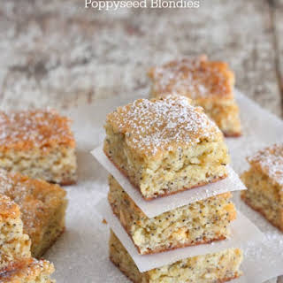 White Chocolate Lemon Poppyseed Blondies.