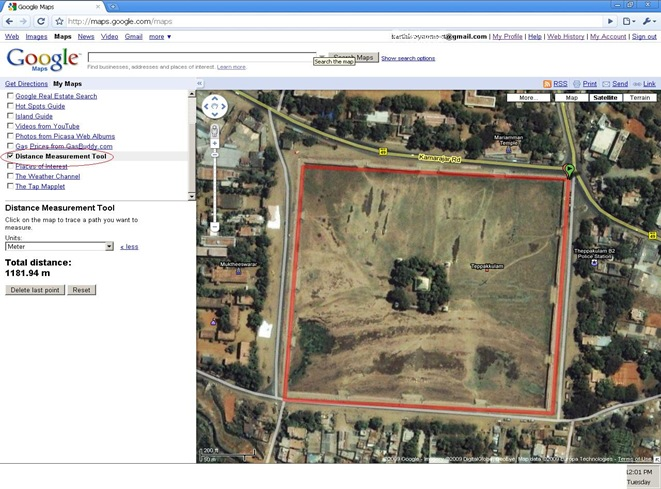 Karthi's Blog: Distant Measurement Tool from Google