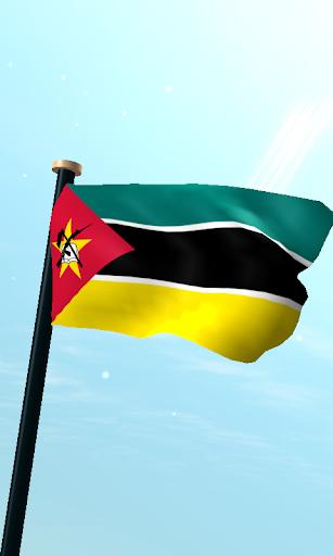 モザンビークフラグ3D無料ライブ壁紙