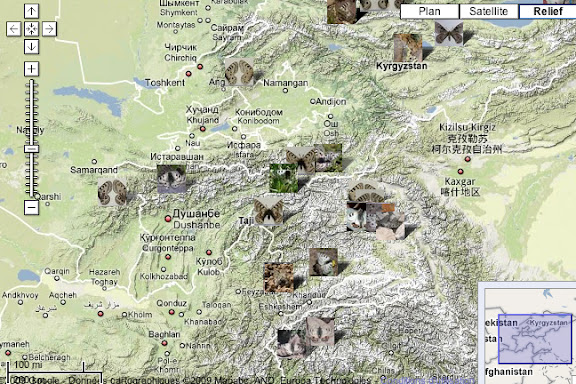 Localisation des photos : Ouzbekistan, Kyrgyzistan et Tadjikistan