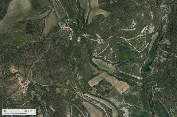 Photo satellite IGN (Géoportail) : les Hautes-Courennes