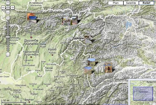 Localisation des photos - Tadjikistan été 2008