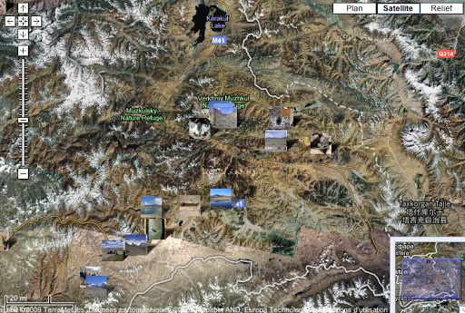 Localisation des photos : Grand Pamir (juillet 2007)