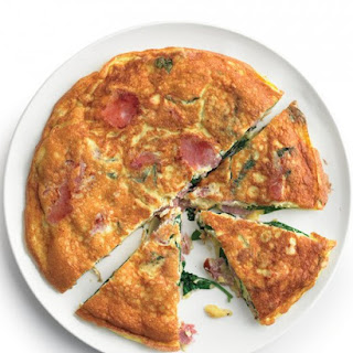 Frittata with Ham and Spinach.