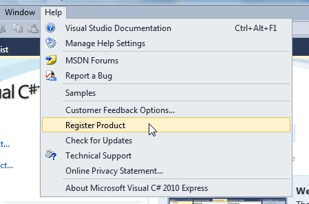 problem registering visual basic 2008 with SP1