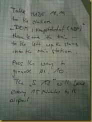 Found travel note