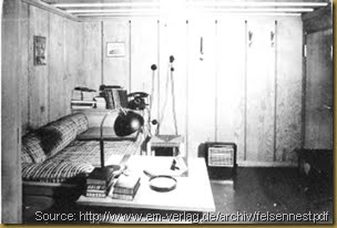 Original bunker interior showing Hitlers bedroom