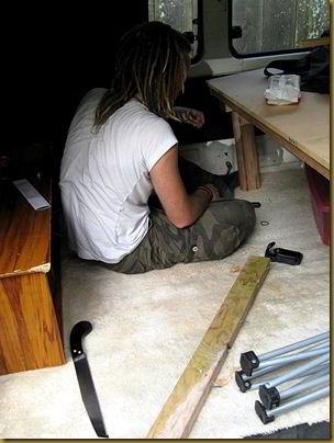 Me doing van DIY... Yep.