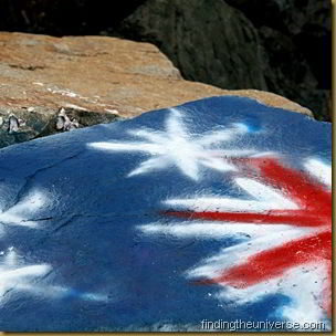 Australian Flag Grafitti - New South Wales - Australia