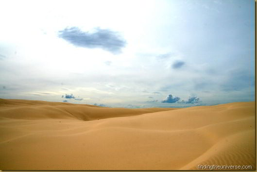 Clouds over the Stockton Bight, the largest moving sand dune in the southern hemisphere - New South Wales - Australia