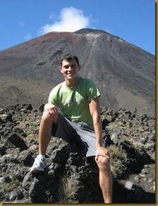 Matt Kepnes at the foot of Mount Ngauruhoe