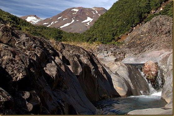 Gollums Pool - well near it - and Mount Ruapehu