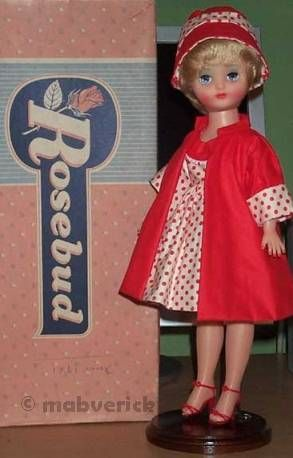 Rosebud doll teen fashion England English 1950s 1960s