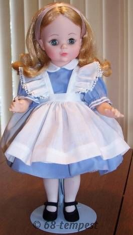 Alice in Wonderland Madame Alexander reissued doll vinyl 1990 1965