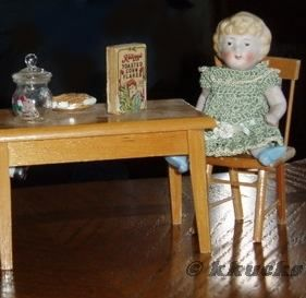 Antique bisque doll German all-bisque