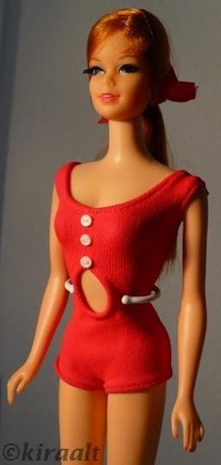 Mattel Barbie doll Stacey TNT Twist n Turn original swimsuit 1960s
