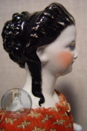 Antique china doll ringlets hairstyle