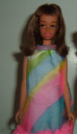 Mattel Barbie Francie Floating In OOAK black African-American 1960s