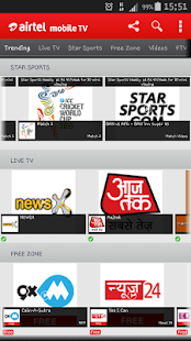 Airtel Live Mobile TV online - screenshot thumbnail