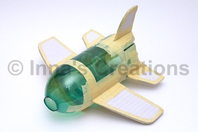 Inna 39 s creations make a papier mache airplane using a for Model making with waste material