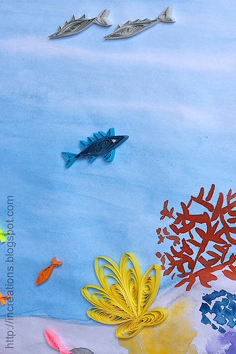 Inna S Creations Under The Sea Kids Quilling Picture