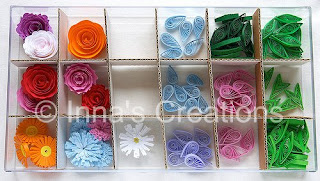 Box with quilled shapes