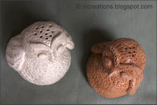 Owls. Salt and Pepper Shakers. Top