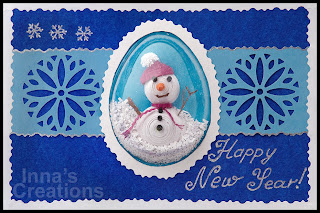 Happy New Year! Card with a snowman
