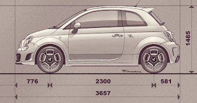 Fiat 500 curb weight