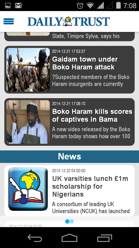 Daily Trust- screenshot
