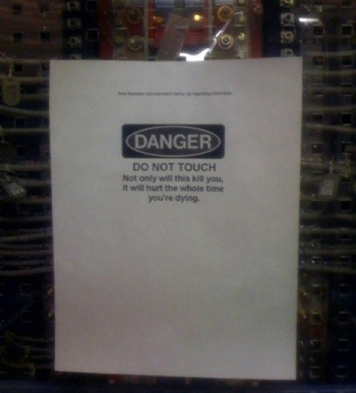 Danger : Warning From Electricity [Pic]