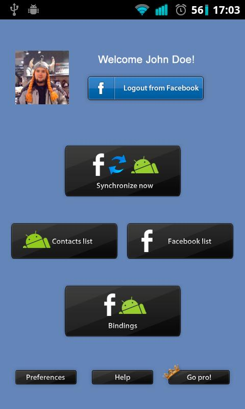 Facebook Contact Binder - screenshot