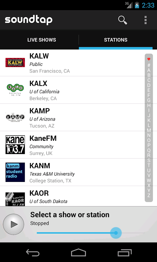 Soundtap College Radio- screenshot