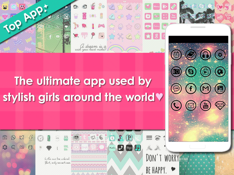 icon wallpaper dressup-CocoPPa - screenshot