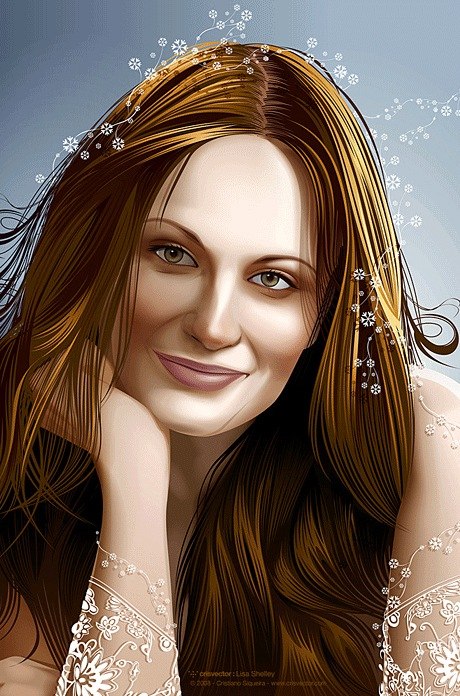 Women Portrait Illustration from Photograph