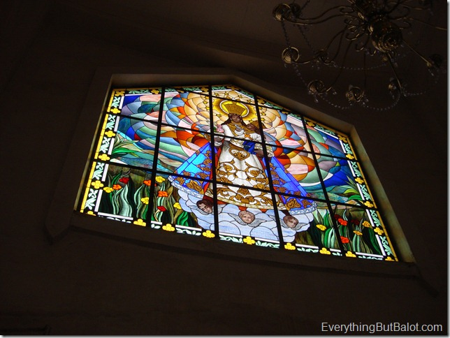 Stained glass window at Antipolo Cathedral