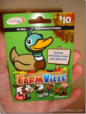 A $10 FarmVille card.