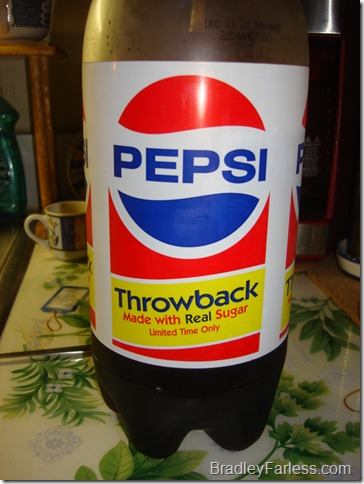 Pepsi Throwback, Made with real sugar.